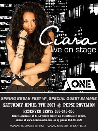 AONE presents Ciara (Greenville | 2007)
