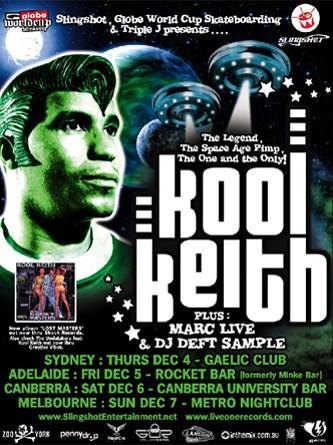 Kool Keith Australian Tour